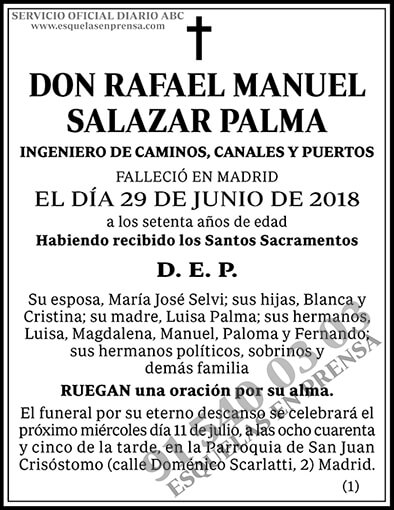 Rafael Manuel Salazar Palma